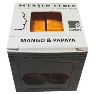 mango, papaya, mango en papaya, scented cubes, waxmelts, scentchips,