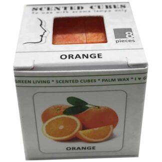 orange, sinaasappel, scented cubes, waxmelts, scentchips,