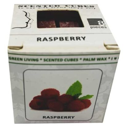 raspberry, scented cubes, waxmelts, scentchips,