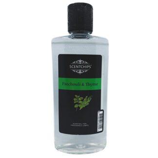 scentchips, scentoil, lampe berger, geurolie, geurolie met lont, patchouli, tijm, patchouly & thyme,