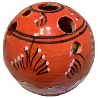 handbeschilderd, rood, bolletje, sierpotje, ceramicas, decojar,