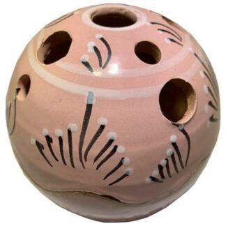 handbeschilderd, roze, bolletje, sierpotje, ceramicas, decojar,