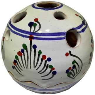 handbeschilderd, wit, bolletje, sierpotje, ceramicas, decojar,
