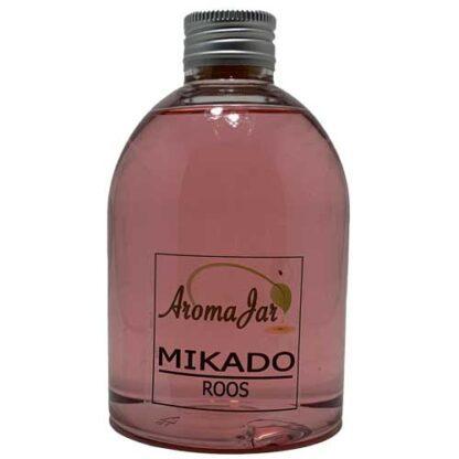 roos, rose, eco, los flesje, geurstokjes, mikado, aromajar,