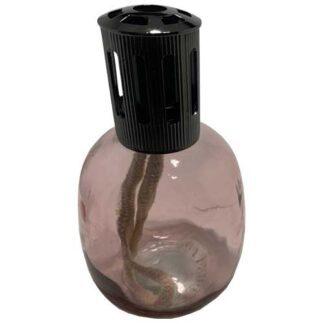 pink, scentoil-burner, lampe-berger, oliebrander met lont en steentje, square, clear,
