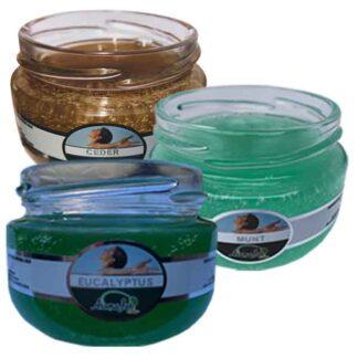 eucalyptus, ceder, munt, actiepakket, infrarood saune, aromajar, geurpotje, refill, navulling, olori, aromas naturales,