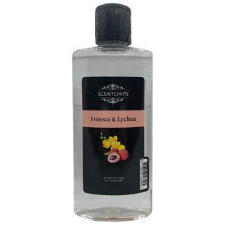 freesia, lychee, scentchipsolie, scentoil, lampe berger, geurolie, lont met steentje, lampe berger,